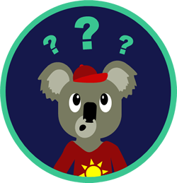 Graphic of Koala with Questions
